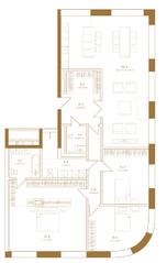 ЖК «Композиция №24», планировка 4-комнатной квартиры, 159.40 м²