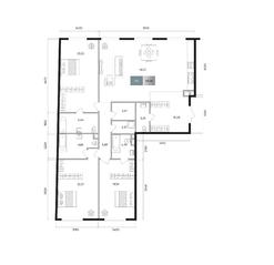 ЖК «Titul на Якиманке», планировка 3-комнатной квартиры, 161.36 м²