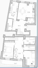 ЖК «Лондон Парк», планировка 3-комнатной квартиры, 131.32 м²