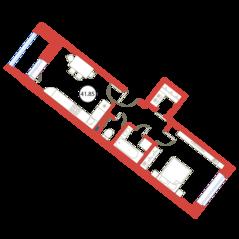 ЖК «Ariosto!», планировка 1-комнатной квартиры, 41.85 м²