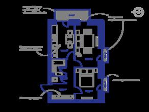МЖК «Veda Village», планировка 2-комнатной квартиры, 53.80 м²