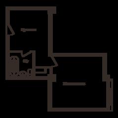 МФК «Резиденции Замоскворечье», планировка студии, 41.10 м²
