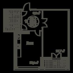 ЖК «Квартал 38А», планировка 1-комнатной квартиры, 68.30 м²