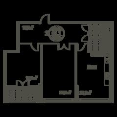 ЖК «Квартал 38А», планировка 2-комнатной квартиры, 93.60 м²