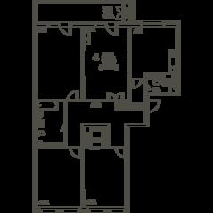 ЖК «Квартал 38А», планировка 4-комнатной квартиры, 147.70 м²