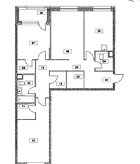 МФК «Серебряный фонтан», планировка 3-комнатной квартиры, 95.90 м²