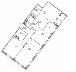 МФК «Серебряный фонтан», планировка 3-комнатной квартиры, 130.30 м²