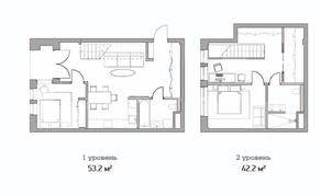 МФК «Studio 12», планировка студии, 95.40 м²