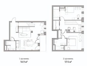 МФК «Studio 12», планировка студии, 112.50 м²
