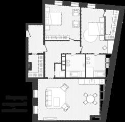 ЖК «Artisan», планировка квартиры со свободной планировкой, 146.20 м²