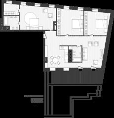 ЖК «Artisan», планировка квартиры со свободной планировкой, 154.70 м²