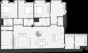 ЖК «Artisan», планировка квартиры со свободной планировкой, 316.10 м²