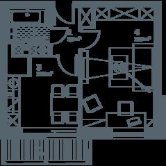 ЖК «Кварта», планировка 1-комнатной квартиры, 41.00 м²