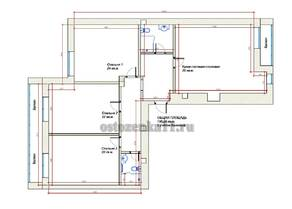 ЖК «Остоженка 11», планировка квартиры со свободной планировкой, 177.80 м²