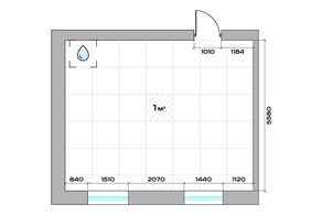МФК «Sinatra», планировка 1-комнатной квартиры, 50.80 м²