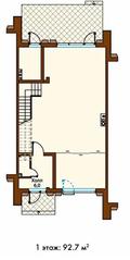 МЖК «Park Fonte», планировка квартиры со свободной планировкой, 278.00 м²