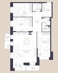 МЖК «Veren Village стрельна», планировка 3-комнатной квартиры, 109.30 м²
