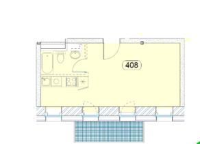 МФК «Park Plaza», планировка 2-комнатной квартиры, 29.80 м²