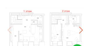 МФК «Park Plaza», планировка 3-комнатной квартиры, 67.90 м²