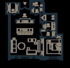 ЖК Клубный дом «Малая Бронная, 15», планировка квартиры со свободной планировкой, 106.00 м²