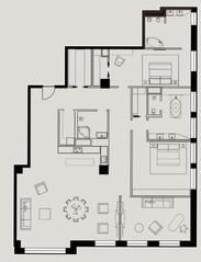 МФК «Mon Cher», планировка квартиры со свободной планировкой, 265.30 м²