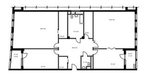 ЖК «Утёсов», планировка 3-комнатной квартиры, 221.80 м²