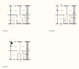 МЖК «Мои Терийоки», планировка 5-комнатной квартиры, 257.21 м²