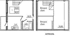 Планировка 1 комнатной квартиры