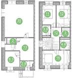 Планировка 4 комнатной квартиры