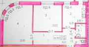 ЖК «на улице Октябрьской», планировка 2-комнатной квартиры, 57.86 м²