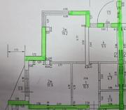 ЖК «на улице Железнодорожная, 38», планировка 2-комнатной квартиры, 69.00 м²
