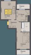 ЖК «Кранц-Парк», планировка 2-комнатной квартиры, 68.90 м²