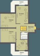 ЖК «Кранц-Парк», планировка 3-комнатной квартиры, 108.79 м²