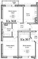ЖК «Гнездо аиста», планировка 2-комнатной квартиры, 67.20 м²