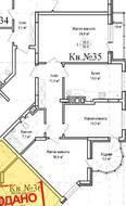 ЖК «Гнездо аиста», планировка 3-комнатной квартиры, 96.90 м²