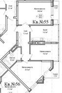 ЖК «Гнездо аиста», планировка 3-комнатной квартиры, 96.20 м²