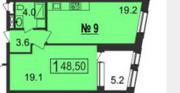 МФК «Nord», планировка 1-комнатной квартиры, 48.50 м²