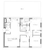 МФК «ORDYNKA by BOSCO Casa», планировка квартиры со свободной планировкой, 162.28 м²