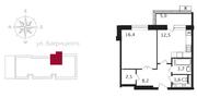 ЖК «Свой», планировка 1-комнатной квартиры, 47.40 м²