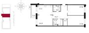 ЖК «Свой», планировка 3-комнатной квартиры, 94.90 м²