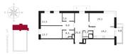 ЖК «Свой», планировка 3-комнатной квартиры, 106.90 м²