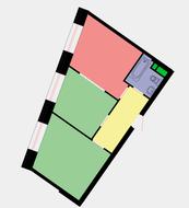 ЖК «Wellton Towers», планировка 2-комнатной квартиры, 50.00 м²