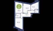 ЖК «Опалиха-Village», планировка 3-комнатной квартиры, 84.80 м²