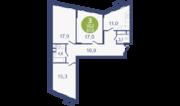 ЖК «Опалиха-Village», планировка 3-комнатной квартиры, 87.80 м²