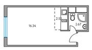 ЖК «Москвичка», планировка студии, 23.35 м²