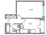 ЖК «Москвичка», планировка 1-комнатной квартиры, 31.67 м²