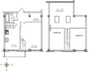 МЖК «Тихий город», планировка 1-комнатной квартиры, 64.12 м²