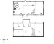 МЖК «Тихий город», планировка 2-комнатной квартиры, 89.43 м²