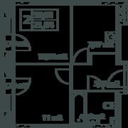 ЖК «Vitality», планировка 1-комнатной квартиры, 39.90 м²