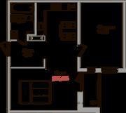ЖК «Верхний», планировка 1-комнатной квартиры, 52.20 м²